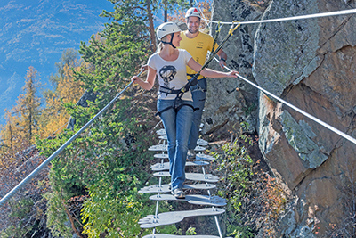 Klettersteig Naturns Knott : Hoachwool klettersteig bergsteigen